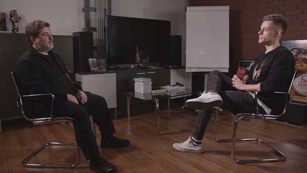 Александр Цекало беседует с журналистом Юрием Дудем