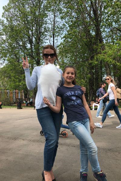 Дана Борисова с дочкой