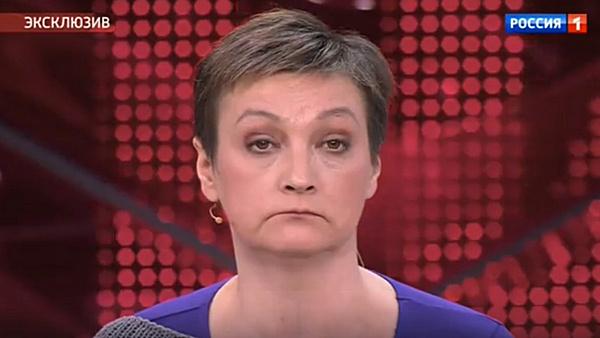 В финале передачи Качалина все же согласилась принять помощь Лютаевой