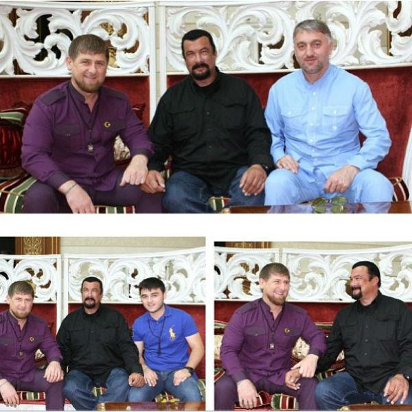 Рамзан  Кадыров и Стивен Сигал