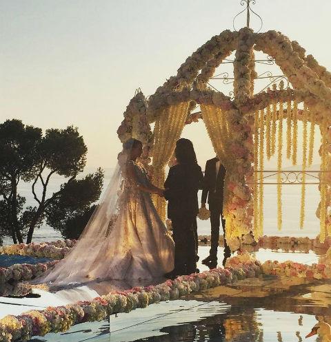 Новобрачные Анастасия и Масуд – сказочная пара