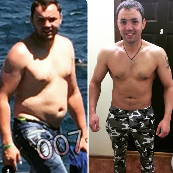 Мужчина сумел скинуть не менее 15 килограммов