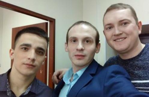 Слева направо: Сергей Семенов, Илья Анищенко и Евгений, который помогал проводить расследование