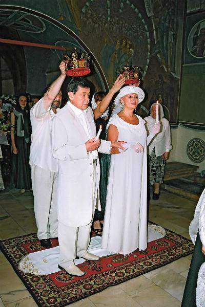 Супруги обвенчались 1 августа 2005 года