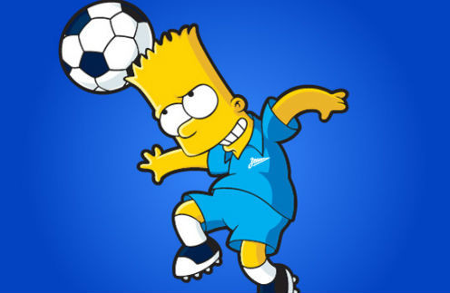 Барт Симпсон примерит форму сине-белы-голубых