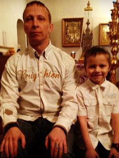 Иван Охлобыстин с сыном Саввой
