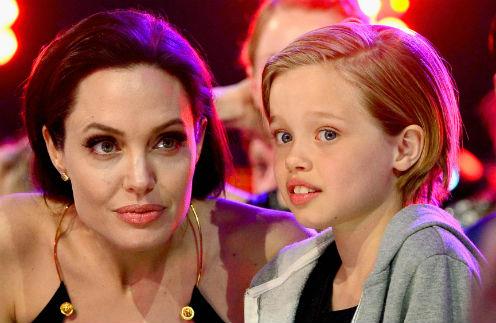 Анджелина Джоли с дочерью Шайло Нувель