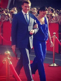 Андрей Искорнев и Ирина Скорикова на Одесском кинофестивале