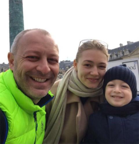 Оксана Акиньшина с мужем Арчилом Геловани и сыном Костей