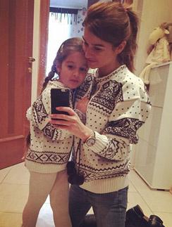 Ксения Бородина с дочкой Марусей