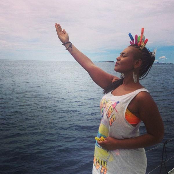 «Своя статуя свободы», -подписала фото певица