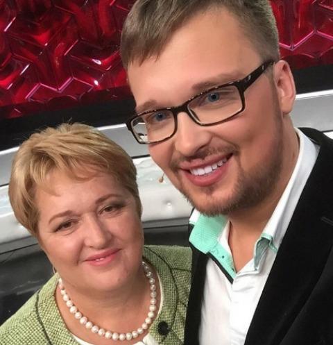 Егор Холявин с мамой
