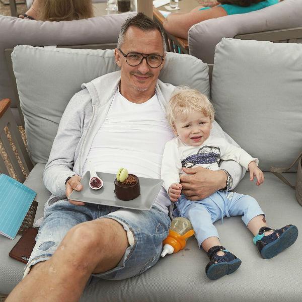 Степан Михалков с сыном Лукой