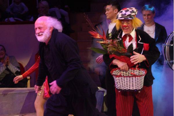 Олег Попов на арене цирка