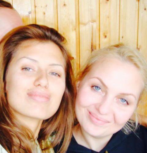 Виктория Боня с сестрой Ангелиной