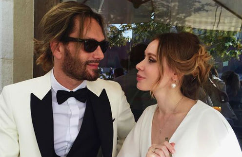 Томас Невергрин с супругой Валерией Жидковой