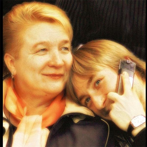Евгений Плющенко с мамой Татьяной Васильевной