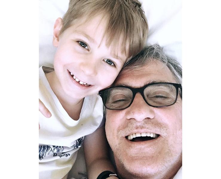 Валерий Гаркалин с внуком Тимофеем