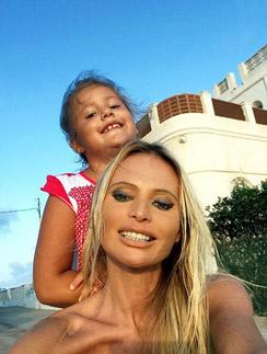 Дана с дочерью Полиной на отдыхе