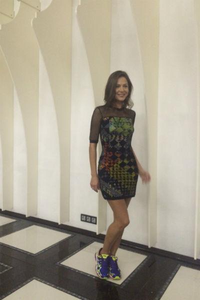 Елена Лядова на закрытом показе сериала «Измены»