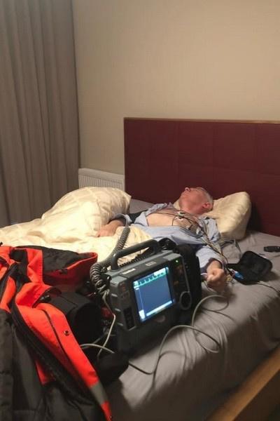Недавно мужчину госпитализировали