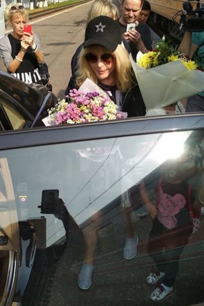 Певица приехала в Москву