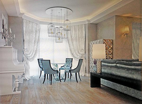 Дизайн-макет гостиной