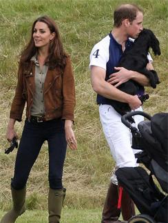 Похоже, принц Уильям испытывает очень нежные чувства к своему питомцу