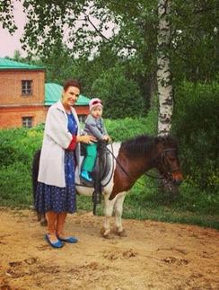 Эвелина с сыном Семеном