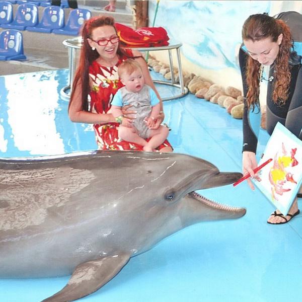 Способности дельфинов к рисованию удивили гостей