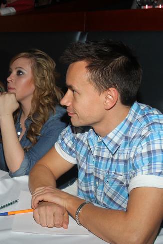 Члены жюри Алексей Серов и Света из Иваново