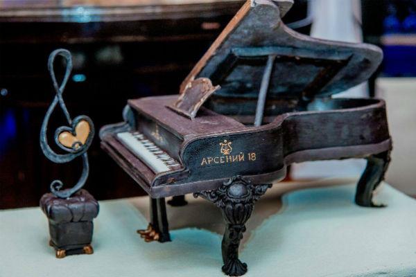 Торт в виде рояля