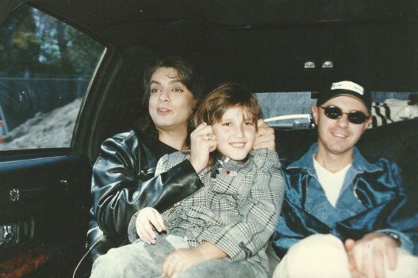 Филипп Киркоров, Михаил Садчиков-младший и стилист Александр Шевчук в Лос-Анджелесе. Март 1998 год