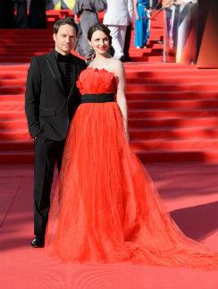 Виктор Васильев и Анна Снаткина на открытии 35-го Московского Международного Кинофестиваля