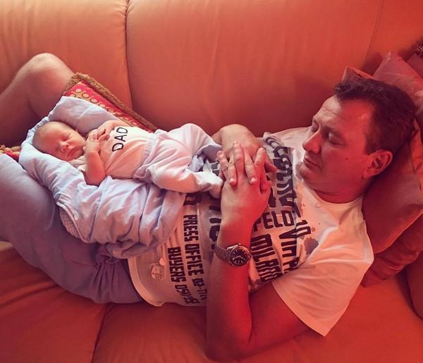 Марат Башаров с сыном Марселем