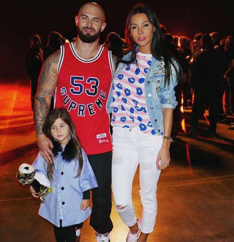Джиган и Оксана Самойлова с дочерью