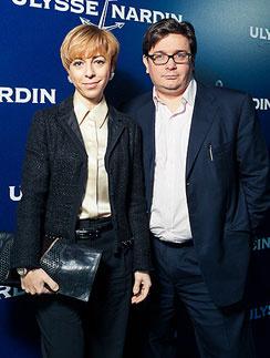 Марианна Максимовская с мужем на праздновании 165-летия марки Ulysse Nardin, 24 ноября 2011 года
