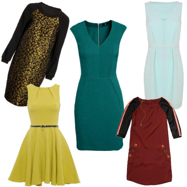 Asos Платье, 2869 руб. New Look Платье, 2750 руб. H&M Платье, 1499 руб. Kira Plastinina Платье, 2399 руб. Jeans Symphony Платье Maison Scotch, 4909 руб.