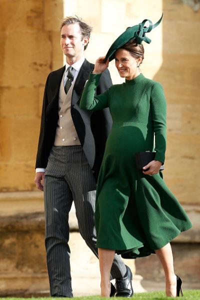 Беременная Пиппа Миддлтон с супругом