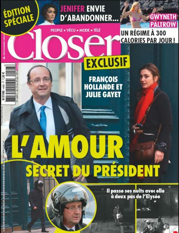 Специальный выпуск журнала о личной жизни Франсуа Олланда