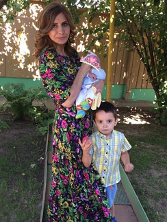 Ирина Александровна с внуками Бэллой и Митей