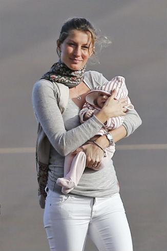 Жизель с малышкой Вивиан