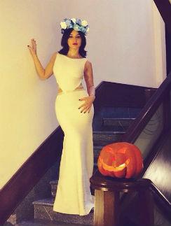 В таком образе Тина встречает Хеллоуин