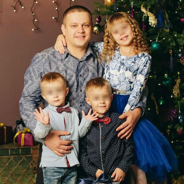 Игорь с детьми