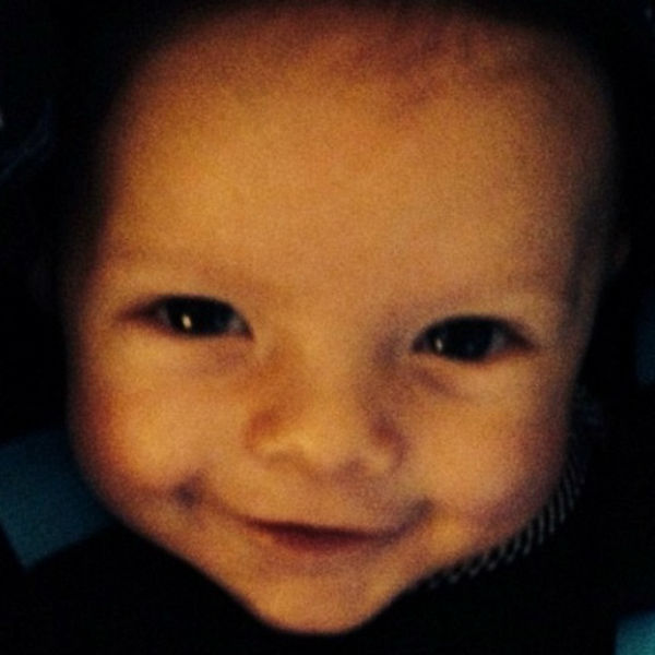 Это фото сыночка Ферги выложила на прошлой неделе