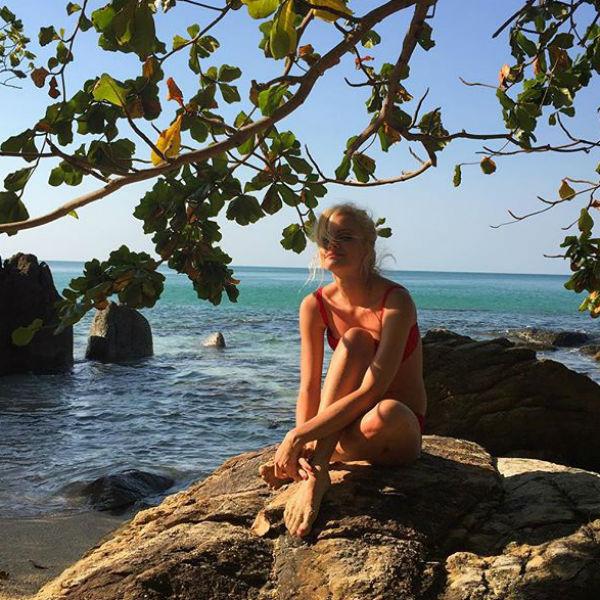 Полина Максимова Новый год встретила в Таиланде