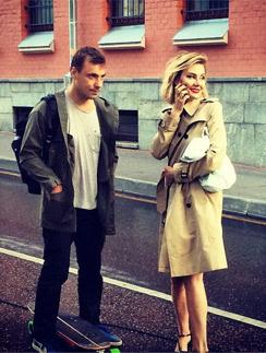 Рената Литвинова и Евгений цыганов на съемках