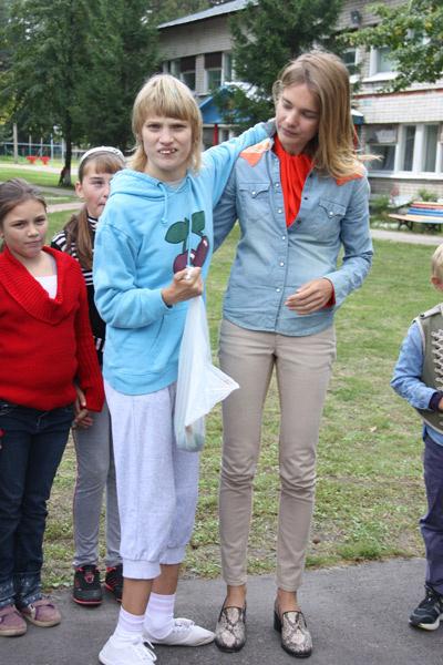 Наталья Водянова с сестрой Оксаной