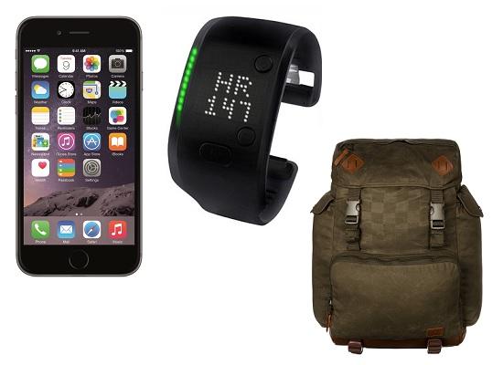Смартфон Apple Iphone 6 Space Grey, Браслет для тренировок adidas FIT SMART, Рюкзак Mod Original