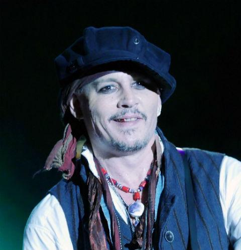 Джонни Депп на концерте с группой Hollywood Vampires